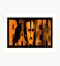 Edgar Allan Poe and The Raven Art Print