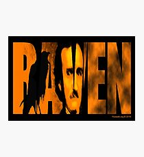 Edgar Allan Poe and The Raven Photographic Print