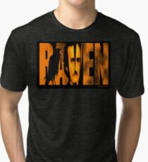 Edgar Allan Poe and The Raven Tri-blend T-Shirt