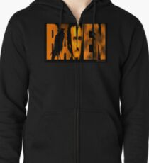 Edgar Allan Poe and The Raven Zipped Hoodie