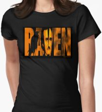 Edgar Allan Poe and The Raven Fitted T-Shirt