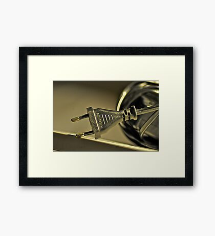 Even unplugged, I badly miss you...: On featured: Extra-ordinary-photography Group &  Weekend-photographer Group Framed Print