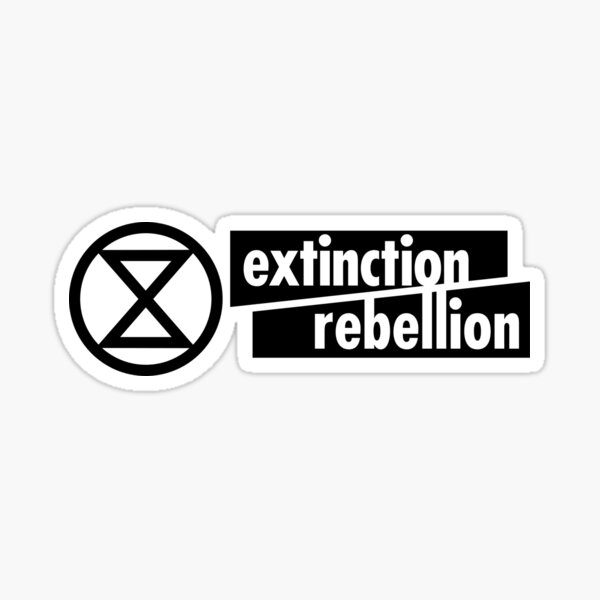 Activism - Extinction Rebellion (Rectangle) Sticker