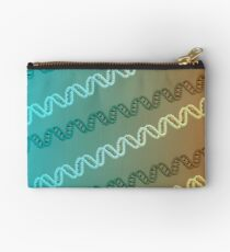 DNA stripe pattern Zipper Pouch