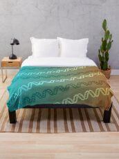 DNA stripe pattern Throw Blanket