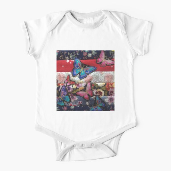 Butterfly Dance Short Sleeve Baby One-Piece