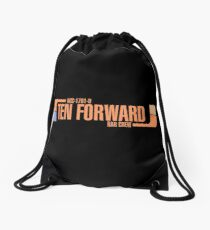 Ten Forward Bar Crew NCC 1701-D Drawstring Bag