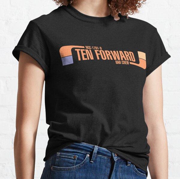 Ten Forward Bar Crew NCC 1701-D Classic T-Shirt