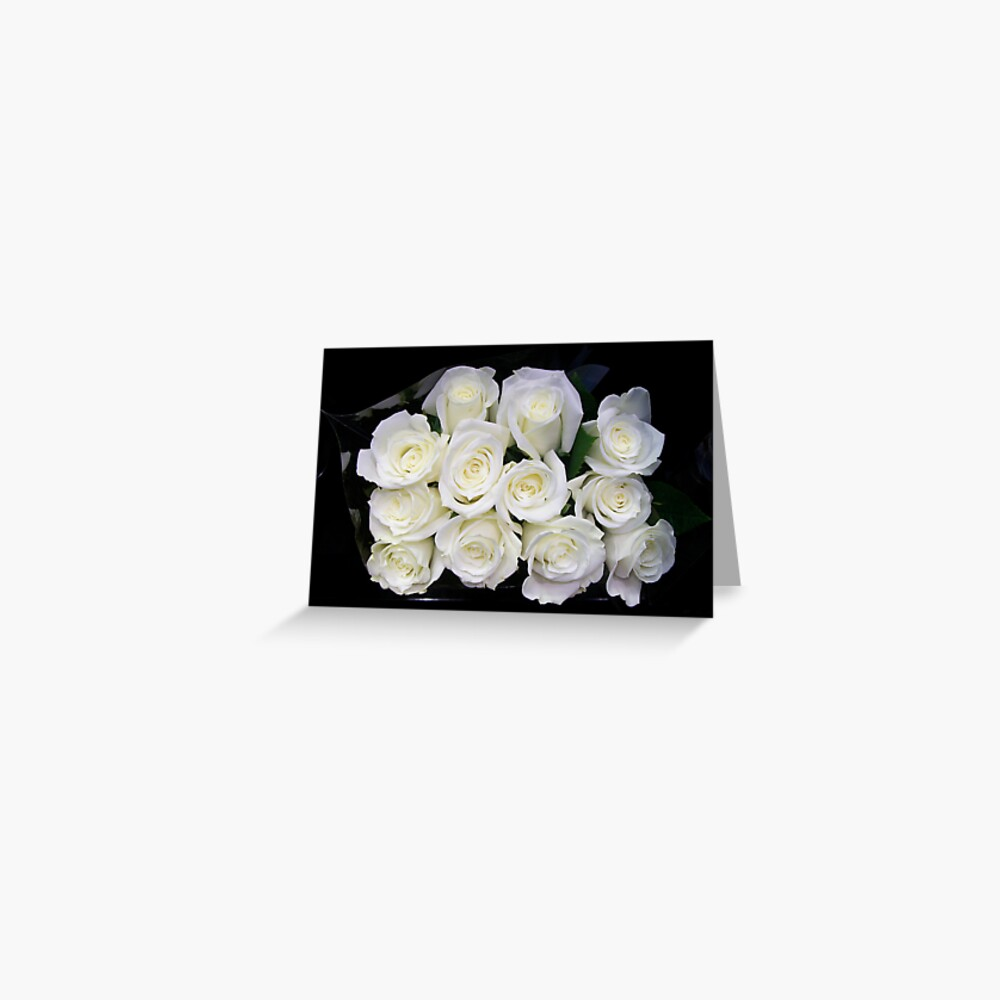 Mommy's White Roses Greeting Card
