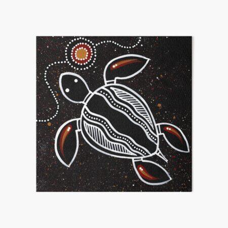 Authentic Aboriginal Art - Sea Turtle Art Board Print