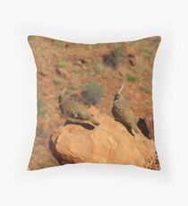 The Spinifex Pigeons sunning themselves. N.Territory. Throw Pillow
