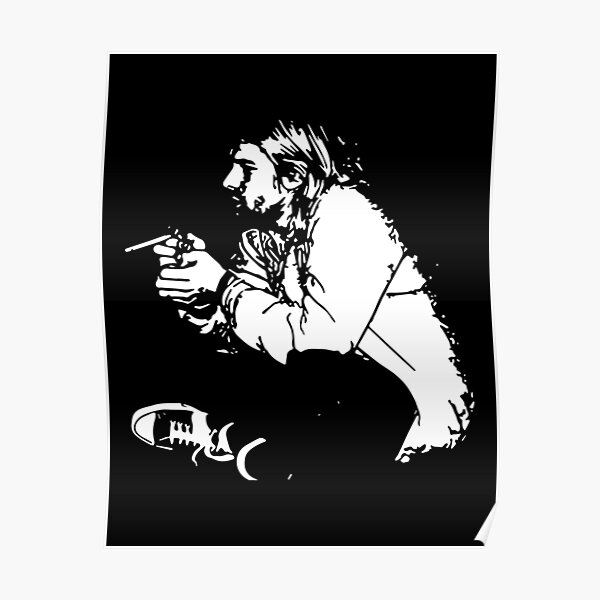 Kurt Cobain - Chillin Poster