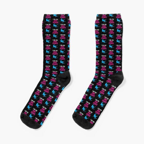 'I Do My Own Stunts' (Black) Socks
