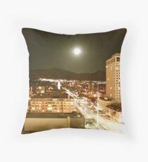 Downtown Salt Lake City at Moonrise Throw Pillow