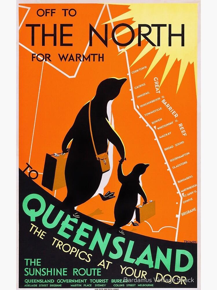 Queensland, Australia - Vintage 1930s Travel Poster by SamKovac