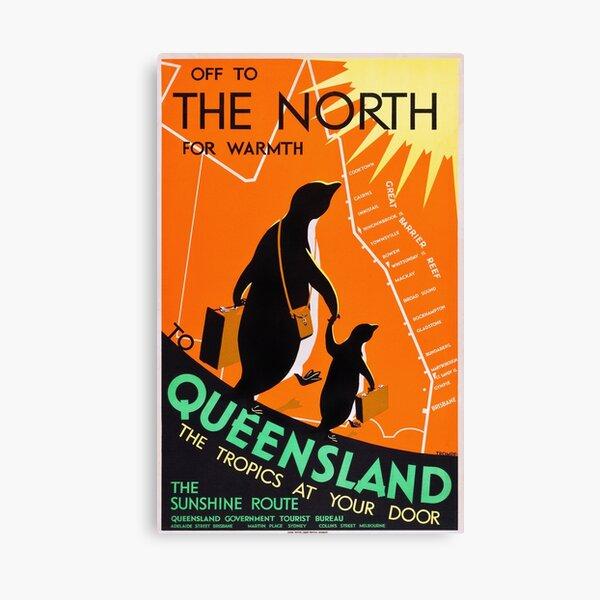 Queensland, Australia - Vintage 1930s Travel Poster Canvas Print