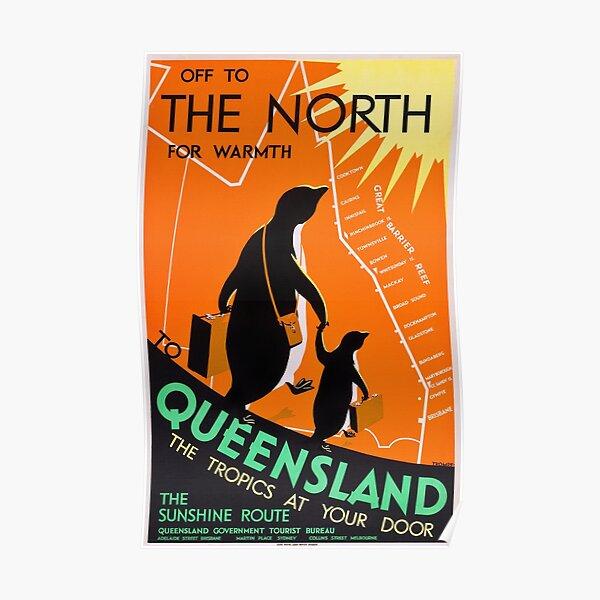 Queensland, Australia - Vintage 1930s Travel Poster Poster