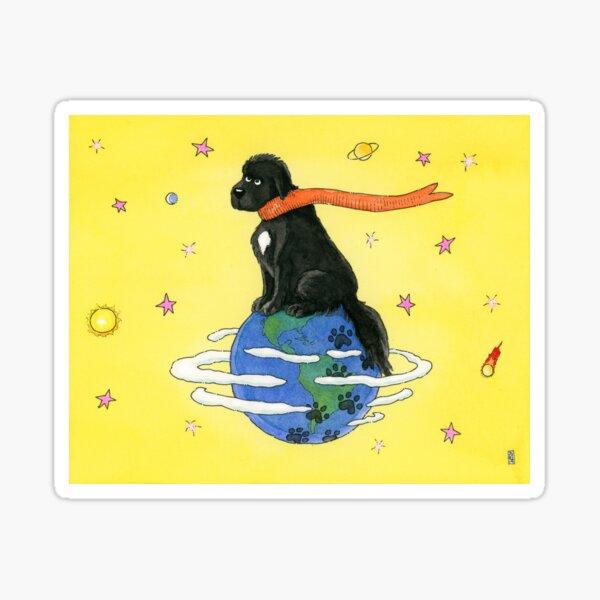 Big Dog, Small World Sticker