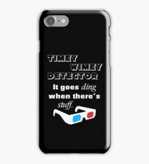 Doctor Who - Timey Wimey Detector 3D Glasses iPhone Case/Skin