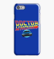 Back to Doctor Who Mash Up with Type 40 Delorean iPhone Case/Skin