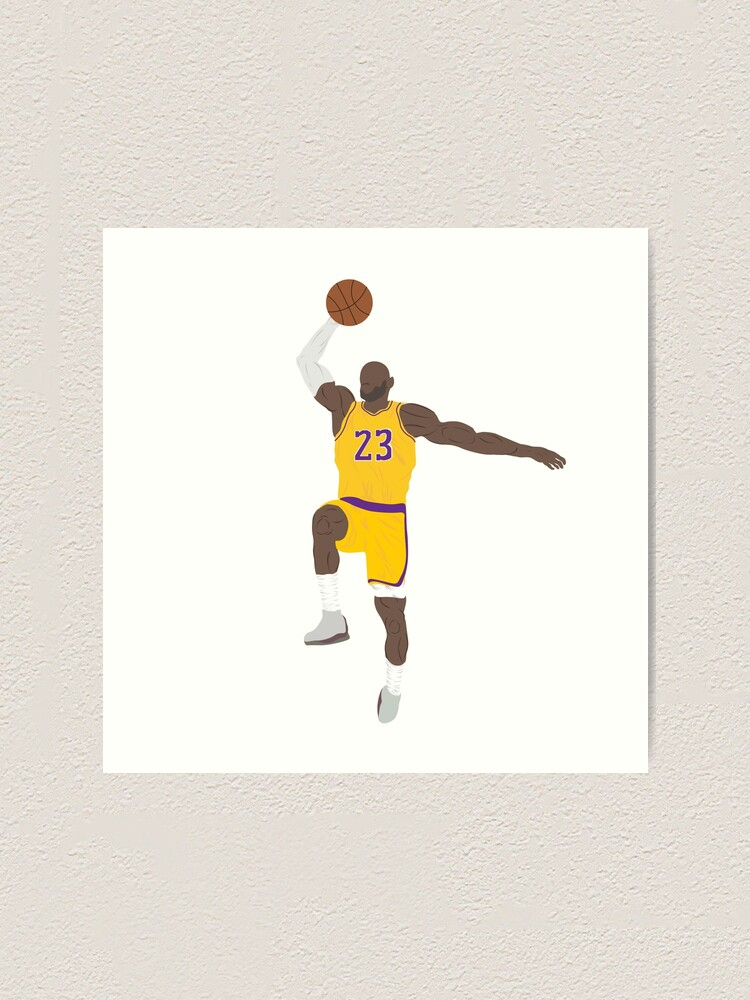 Lebron James Lakers Basketball King James Art Print By Briannafalwell Redbubble