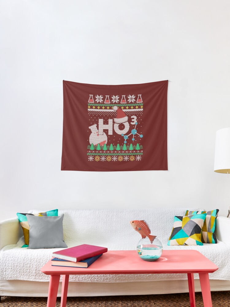 Funny Christmas Gifts Chemistry Lover Gift Science Nerd Gifts Chemist Gifts Xmas Gift Ideas Ugly Christmas Ho Ho Ho Tapestry By Chaule28 Redbubble