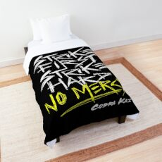 Cobra Kai Motto: Strike First Strike Hard No Mercy Comforter