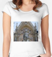St. Elisabeth's Miracle of the Roses Fitted Scoop T-Shirt