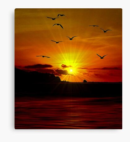 THE SUNSET OF MY LIFE Canvas Print