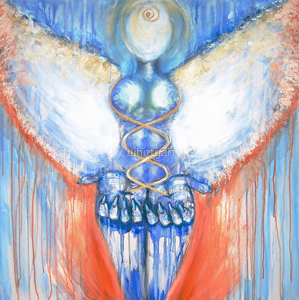 """"""" I AM """" ~ Earth Angel Vessel ~ the OverSelf Healing with Light by whittyart"""