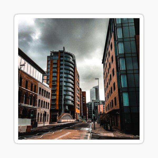 Deserted city of Manchester in autumn Sticker