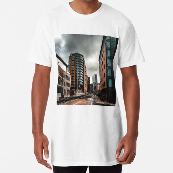 Deserted city of Manchester in autumn Long T-Shirt