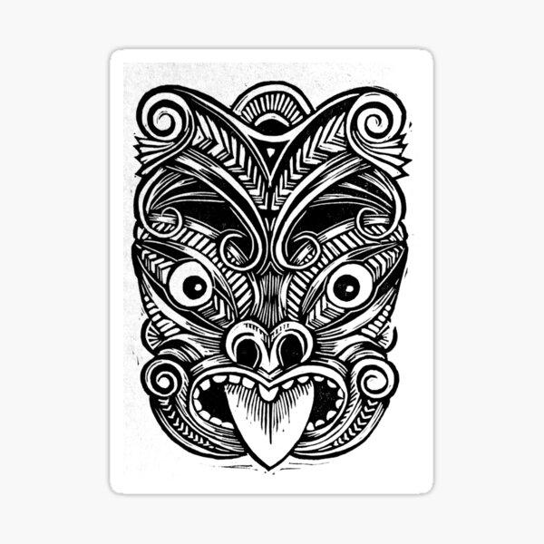 Masque Maori Sticker