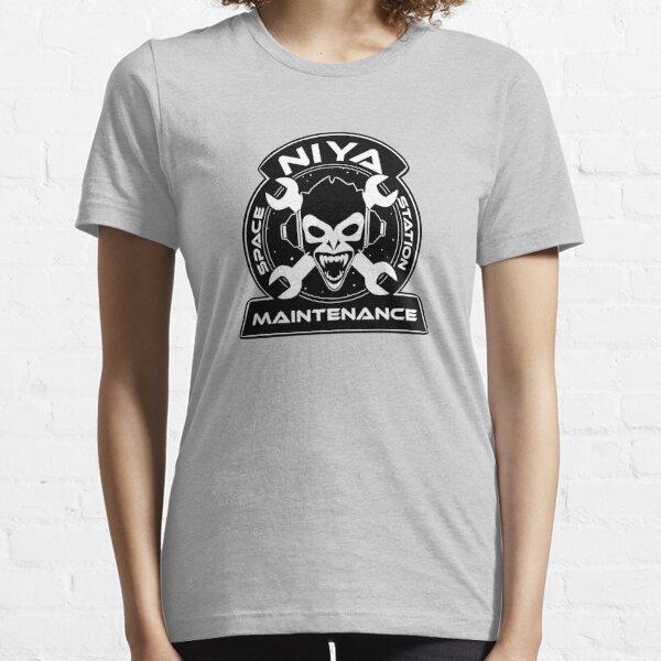 Niya Space Station Maintenance Black Essential T-Shirt