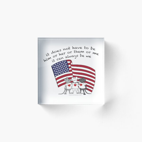 MantraMouse® It Can Always Be We Cartoon in Color Acrylic Block