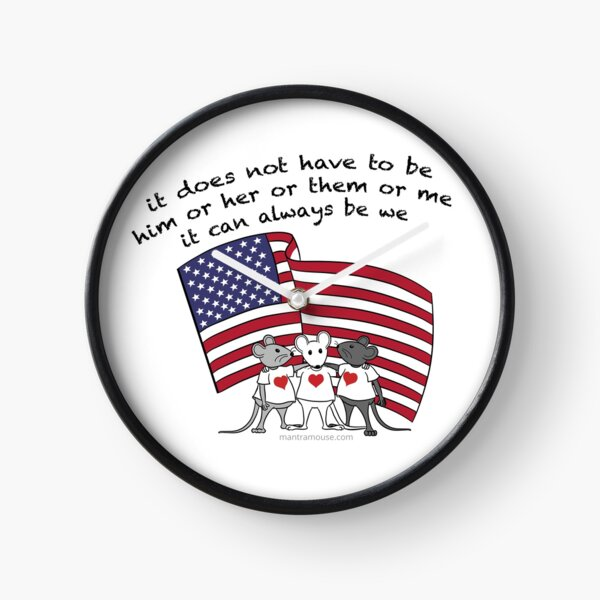 MantraMouse® It Can Always Be We Cartoon in Color Clock