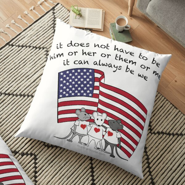 MantraMouse® It Can Always Be We Cartoon in Color Floor Pillow