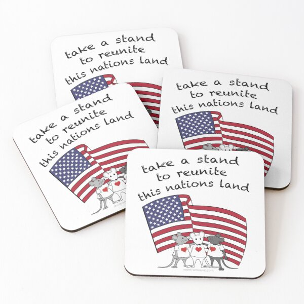 MantraMouse® Take a Stand in Color Coasters (Set of 4)