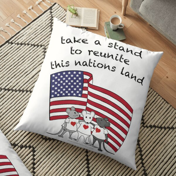MantraMouse® Take a Stand in Color Floor Pillow