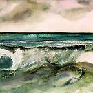 Watercolors - Sea-waves by Marlies Odehnal