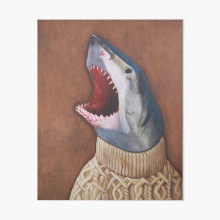 Shark in a Sweater Art Board Print