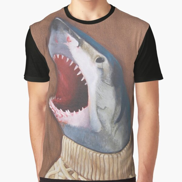 Shark in a Sweater Graphic T-Shirt