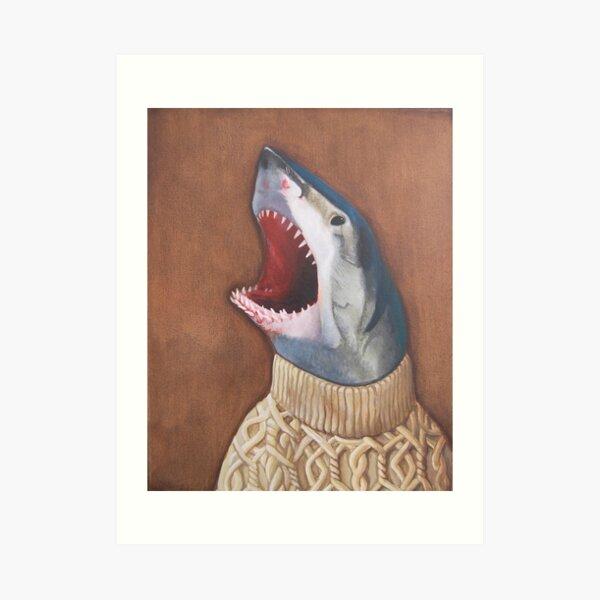 Shark in a Sweater Art Print