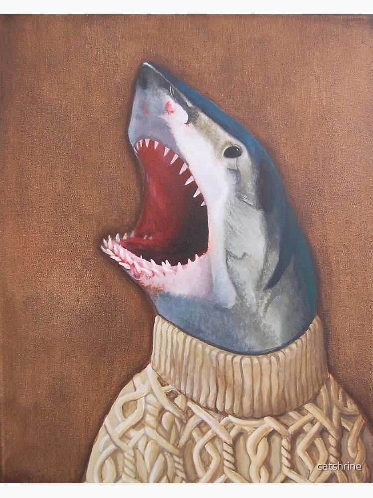 Shark in a Sweater by catshrine