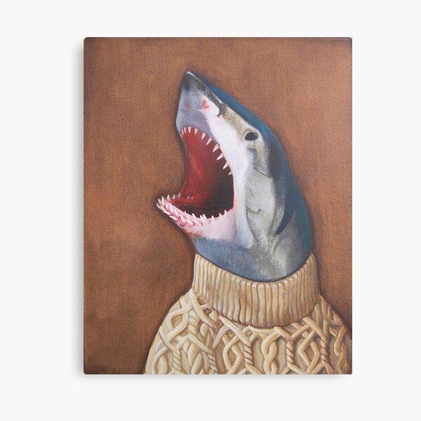 Requin dans un pull Impression sur toile