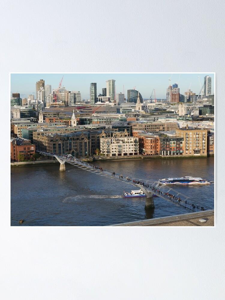 Alternate view of Millennium Bridge, London Poster