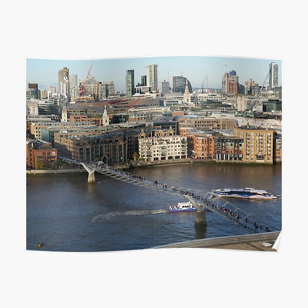 Millennium Bridge, London Poster