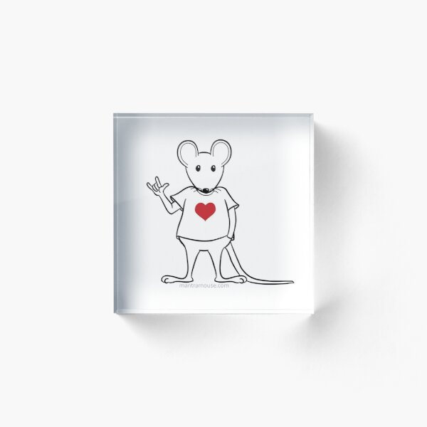 MantraMouse® with Love Sign Acrylic Block