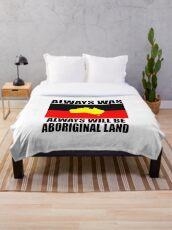 Aboriginal Flag - Always was Always will be Aboriginal Land Throw Blanket