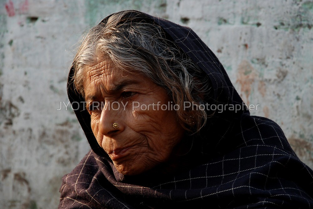 Old Lady by JYOTIRMOY Portfolio Photographer